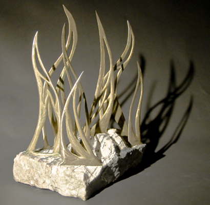 Cast Bronze, Marble. 24 x 24 x 16 in. .